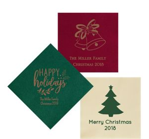 Personalized Christmas Premium Lunch Napkins