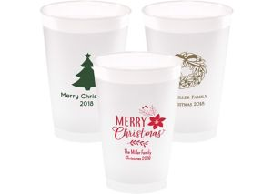 Personalized Christmas Frosted Plastic Shatterproof Cups 14oz