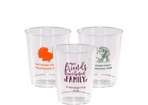 Personalized Thanksgiving Hard Plastic Cups 8oz