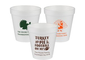 Personalized Thanksgiving Foam Cups 10oz