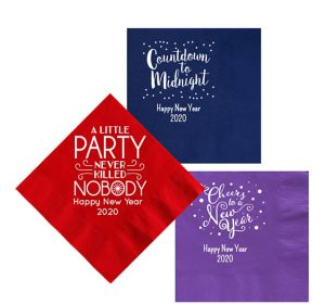 Personalized New Year's Lunch Napkins