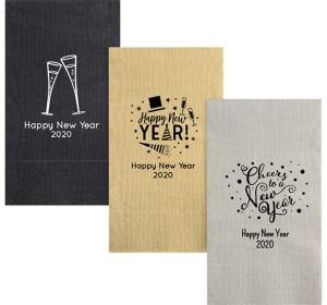 Personalized New Year's Moire Guest Towels