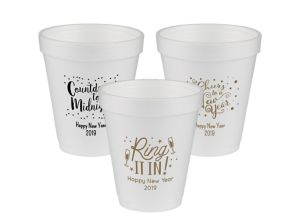 Personalized New Year's Foam Cups 8oz