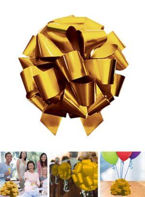Large Metallic Gold Gift Bow
