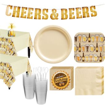 Cheers & Beers Basic Party Kit for 16 Guests