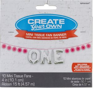 Mini Create Your Own Pink Paper Fan Banner