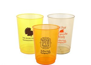 Personalized Thanksgiving Hard Plastic Cups 10oz