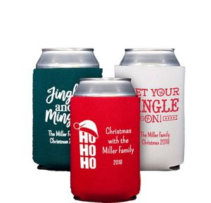 Personalized Christmas Collapsible Can Coozies