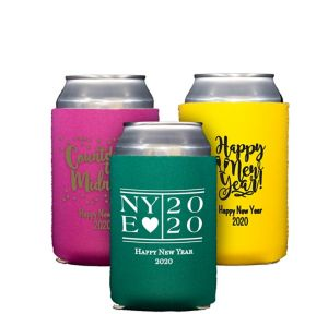 Personalized New Year's Collapsible Can Coozies