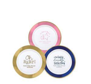 Personalized Baby Premium Round Trimmed Dessert Plates