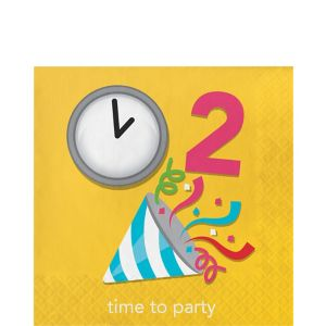 Time To Party Lunch Napkins 16ct