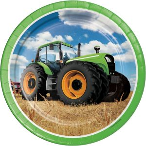 Tractor Lunch Plates 8ct