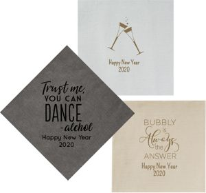Personalized New Year's Bella Dinner Napkins