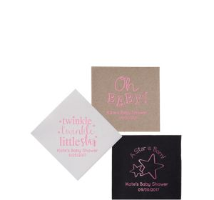 Personalized Baby Petite Beverage Napkins