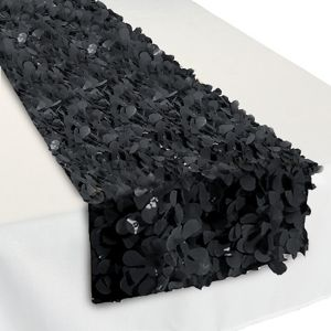 Black Floral Table Runner