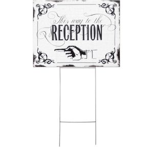 This Way to the Reception Yard Sign