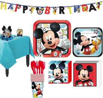 Mickey Mouse Tableware Party Kit for 8 Guests