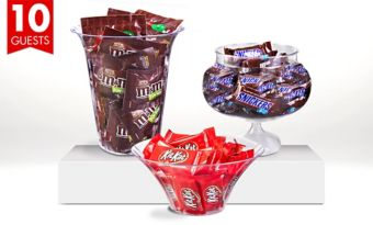 Branded Chocolate Candy Kit with Containers for 10 Guests