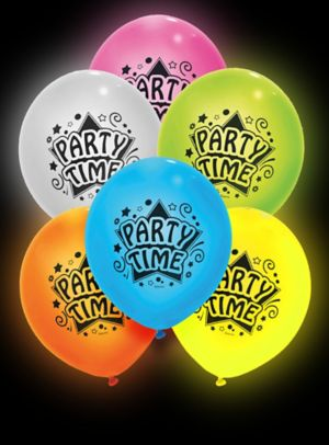 Illooms Light-Up Assorted Color Party Time LED Balloons 12ct