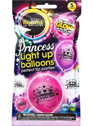 Illooms Light-Up Princess LED Balloons 5ct