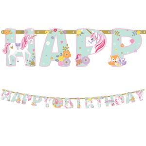 Magical Unicorn Birthday Banner Kit