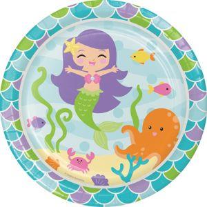 Friendly Mermaid Lunch Plates 8ct