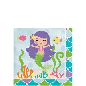 Friendly Mermaid Beverage Napkins 16ct