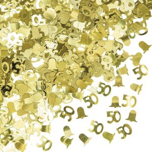 Metallic Gold 50th Anniversary Confetti