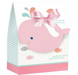 Pink Baby Whale Favor Boxes 8ct