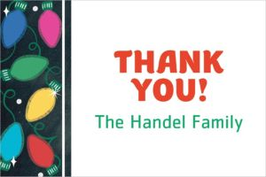 Custom Holiday Twinkle Lights Thank You Notes