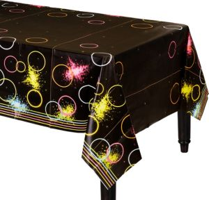 Neon Party Table Cover