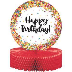 Rainbow Sprinkles Happy Birthday Honeycomb Centerpiece