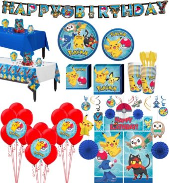 Pokemon Tableware Ultimate Kit for 16 Guests