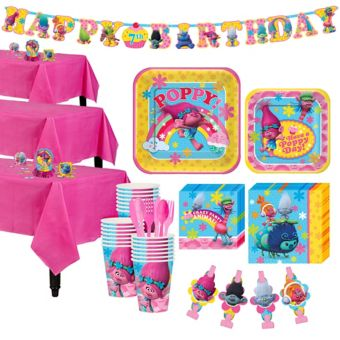 Trolls Tableware Party Kit for 24 Guests