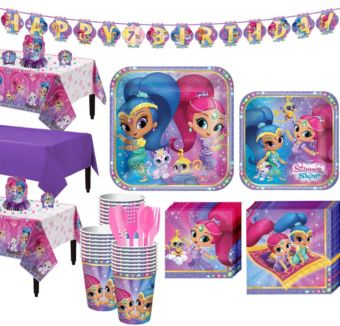 Shimmer and Shine Tableware Party Kit for 24 Guests