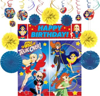 DC Super Hero Girls Decoration Kit