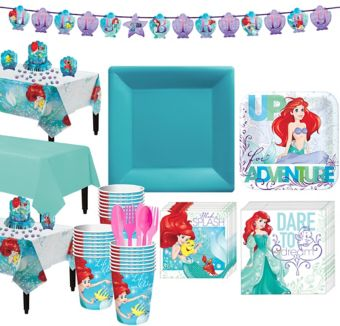 Little Mermaid Tableware Party Kit for 24 Guests