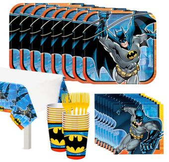 Batman Tableware Party Kit for 16 Guests