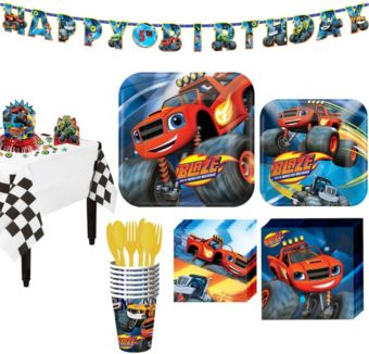 Blaze and the Monster Machines Tableware Party Kit for 8 Guests