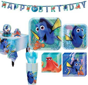 Finding Dory Tableware Party Kit for 8 Guests