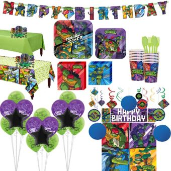 Teenage Mutant Ninja Turtles Tableware Ultimate Kit for 16 Guests