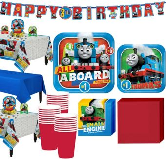 Thomas The Tank Engine Tableware Party Kit for 24 Guests