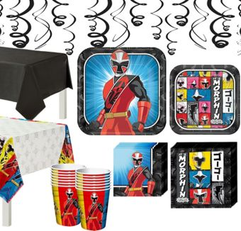Power Rangers Ninja Steel Tableware Party Kit for 16 Guests