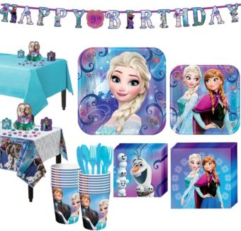 Frozen Tableware Party Kit for 16 Guests