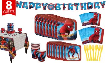 Spider-Man Homecoming Tableware Party Kit for 8 Guests
