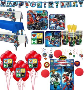 Justice League Tableware Ultimate Kit for 24 Guests