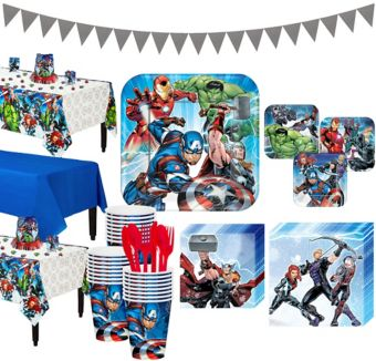 Avengers Tableware Party Kit for 24 Guests