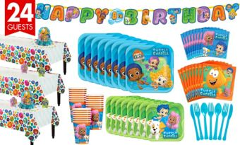 Bubble Guppies Tableware Party Kit for 24 Guests