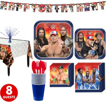 WWE Tableware Party Kit for 8 Guests