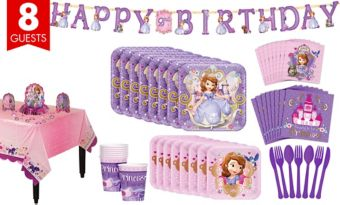 Sofia the First Tableware Party Kit for 8 Guests